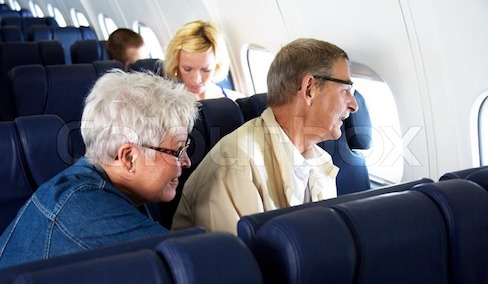 elderly traveling